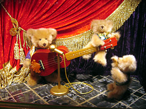 Bears play guitar