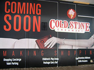 Cold Stone Creamery Coming Soon!