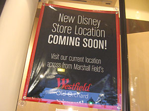 Relocation: Disney Store