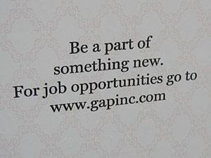 GapInc.com, not ForthAndTowne.com
